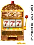 slot machine with lucky seven... | Shutterstock .eps vector #301678865