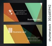 stylish business cards with... | Shutterstock .eps vector #301685942