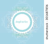 vintage invitation card.   Shutterstock .eps vector #301687856