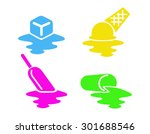 melting dessert beverage and... | Shutterstock .eps vector #301688546