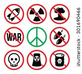 no nuclear weapon  no war  no... | Shutterstock .eps vector #301690466