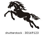 mustang vector illustration | Shutterstock .eps vector #30169123