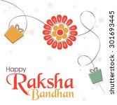 elegant greeting card design... | Shutterstock .eps vector #301693445