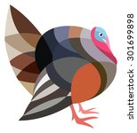 stylized turkey bird | Shutterstock .eps vector #301699898