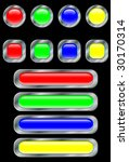 set of buttons. a vector.... | Shutterstock .eps vector #30170314