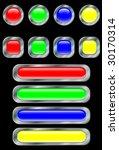 set of buttons. a vector.... | Shutterstock .eps vector #30170314