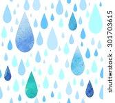 seamless rainy pattern | Shutterstock .eps vector #301703615