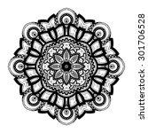 vector beautiful deco black... | Shutterstock .eps vector #301706528