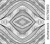 vector seamless abstract black... | Shutterstock .eps vector #301706552