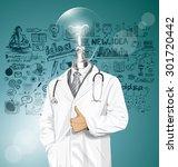 vector doctor man with... | Shutterstock .eps vector #301720442