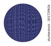 binary code sphere isolated... | Shutterstock . vector #301729826