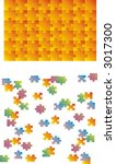 puzzle vector  every piece is... | Shutterstock .eps vector #3017300