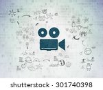 travel concept  painted blue...   Shutterstock . vector #301740398