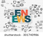 news concept  painted... | Shutterstock . vector #301740986