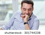 people and tiredness concept  ... | Shutterstock . vector #301744238