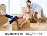 home  people  moving and real... | Shutterstock . vector #301744478