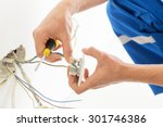 repair  renovation  electricity ... | Shutterstock . vector #301746386