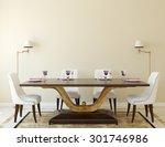 modern dining room interior.3d... | Shutterstock . vector #301746986