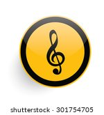 song icon design on yellow... | Shutterstock .eps vector #301754705