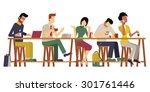 vector illustration of guests ... | Shutterstock .eps vector #301761446