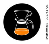 coffee brewing methods icons... | Shutterstock .eps vector #301761728