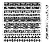 asian lattice ornaments ... | Shutterstock .eps vector #301762715