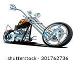 custom motorcycle chopper... | Shutterstock . vector #301762736