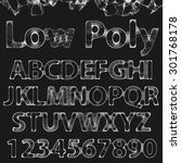 lowpoly outline fonts and... | Shutterstock . vector #301768178
