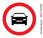 prohibiting thoroughfare sign... | Shutterstock .eps vector #301773356