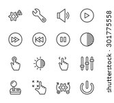 controls icons   vector  eps10  ... | Shutterstock .eps vector #301775558