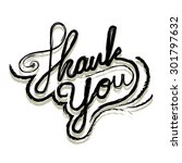 thank you typographic vector | Shutterstock .eps vector #301797632