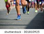 marathon runners   Shutterstock . vector #301810925