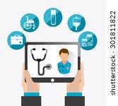 medical healtcare design ... | Shutterstock .eps vector #301811822
