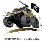 Cartoon 4x4 Vehicle. Available...
