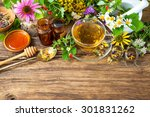 Cup Of Herbal Tea With Wild...