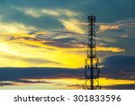 telecommunication tower with... | Shutterstock . vector #301833596
