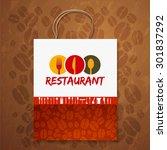 bag corporate identity menu... | Shutterstock .eps vector #301837292