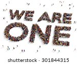 large group of people seen from ...   Shutterstock . vector #301844315