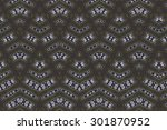 cloth embroidered motifs close | Shutterstock . vector #301870952