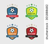 set of soccer or football... | Shutterstock .eps vector #301888682