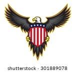 Patriotic American Bald Eagle ...