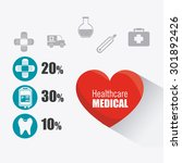 medical healthcare design ... | Shutterstock .eps vector #301892426