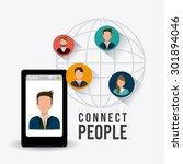 connect people design  vector... | Shutterstock .eps vector #301894046