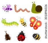 illustrator of bug | Shutterstock .eps vector #301896026
