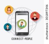 connect people design  vector... | Shutterstock .eps vector #301897346