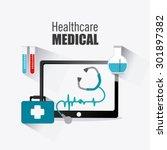 medical healtcare design ... | Shutterstock .eps vector #301897382