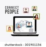 connect people design  vector... | Shutterstock .eps vector #301901156