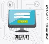 security system design  vector... | Shutterstock .eps vector #301901225