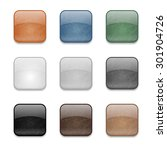 set of web square glossy... | Shutterstock . vector #301904726