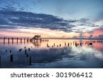 Indian River At Sunrise In...